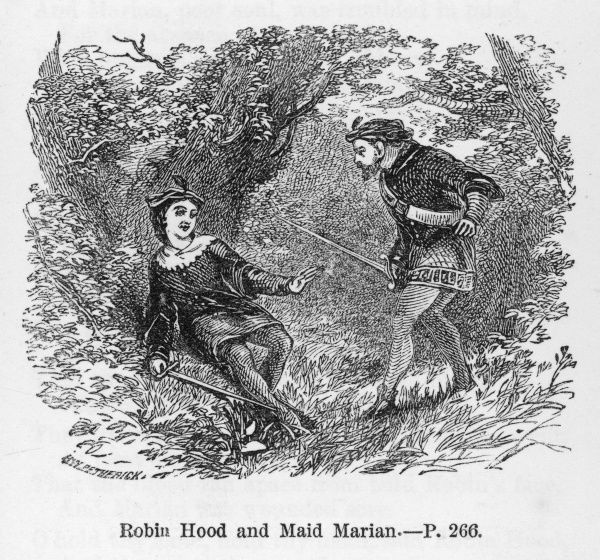 Robin finds Maid Marian, disguised as a boy