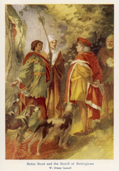 An encounter between the outlaw Robin Hood and the upholder of the law, the Sheriff of Nottingham