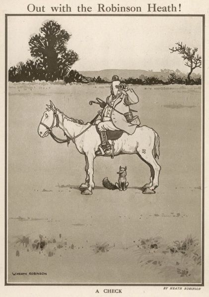 Huntsman searching for a fox. Robinson was a regular contributor to the Sketch, the Bystander and other ILN titles during his lifetime. His weekly drawings featuring mind-boggling contraptions and designs were immensely popular. Please note