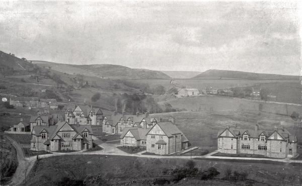 A view of the Rochdale Union cottage homes at Wardle, Lancashire. The homes, opened in around 1898, housed pauper children away from the workhouse. Each cottage contained around a dozen children, each under the care of a house mother or father