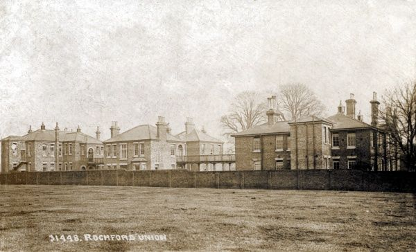 A view of the Rochford Union workhouse at Rochford in Essex. Date: circa 1910