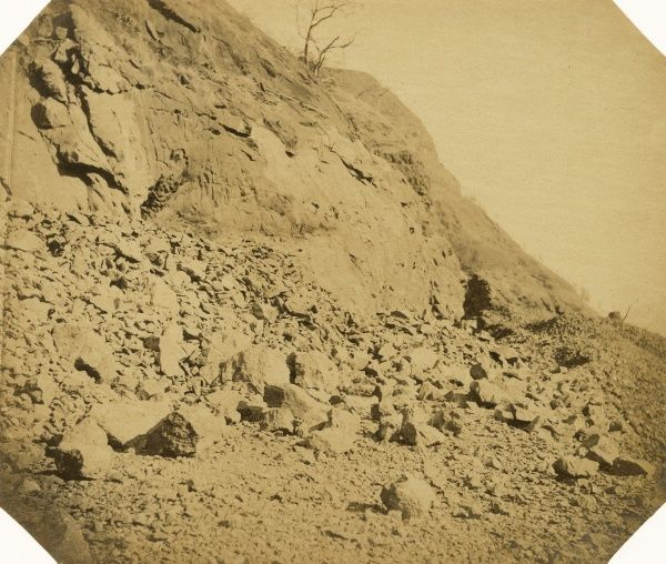 Rock cutting, looking down towards Tunnel no 21; at 9 miles Date: 1856