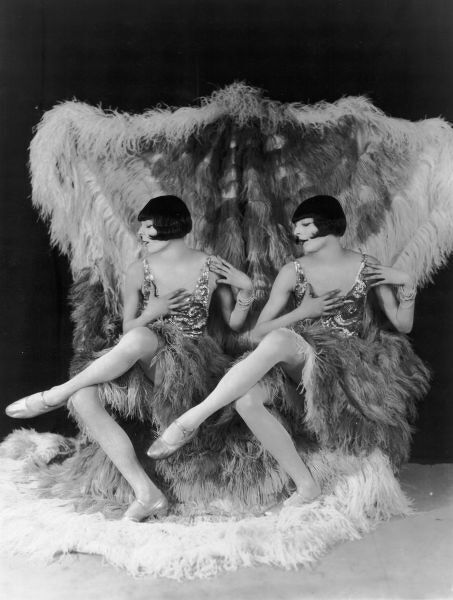 The Rocky Twins dressed in drag as the Dolly Sisters, Paris, late 1920s late 1920s