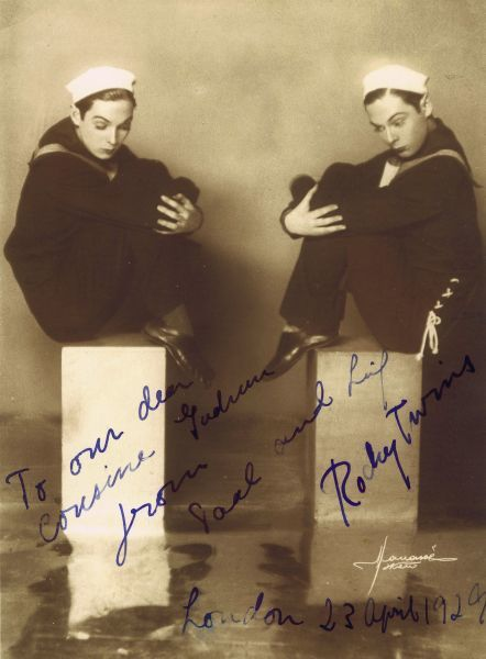 The Rocky Twins dressed as sailors in London, April 1929 1929