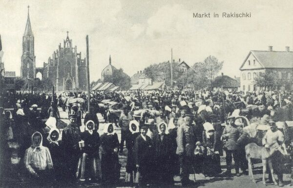 Rokishkis, Lithuania - The Marketplace Date: circa 1910s