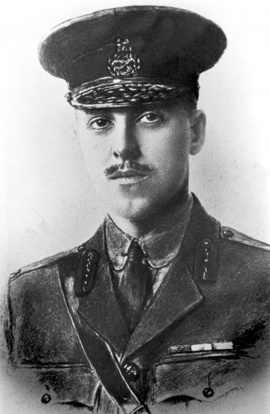 Brigadier General Roland Boys Bradford (1892 1917), British soldier, recipient of the Victoria Cross in World War One for his actions on 1st October 1916 at Eaucourt L'Abbaye, France. He was killed in action at Cambrai, France on 30th November 1917