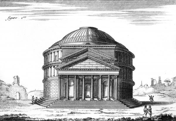 The Pantheon of Agrippa or Temple of Jupiter. Date: Circa 1760