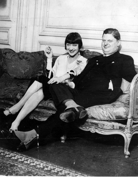 Rosie Dolly (1892-1970) one half of the famous performing American identical twins, The Dolly Sisters, with Mortimer Davis Jnr, known as The Fat Boy, heir to a 150m fortune who she married and then swiftly divorced in 1927