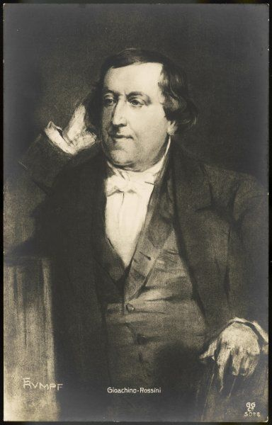 GIOACCHINO ROSSINI Italian composer in middle age