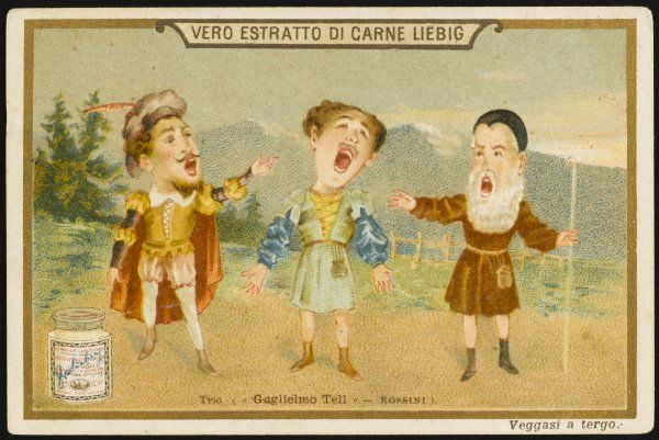 The celebrated trio from Act Two in which Tell, Walter and Arnold swear to free Switzer- land from the Austrian yoke, which they will do before the final curtain falls