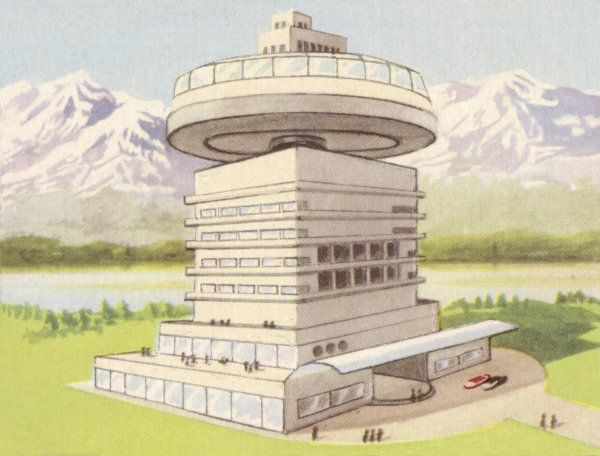 SANATORIUM FOR SOLAR THERAPY, ROTATING TO TAKE FULL ADVANTAGE OF THE SUN