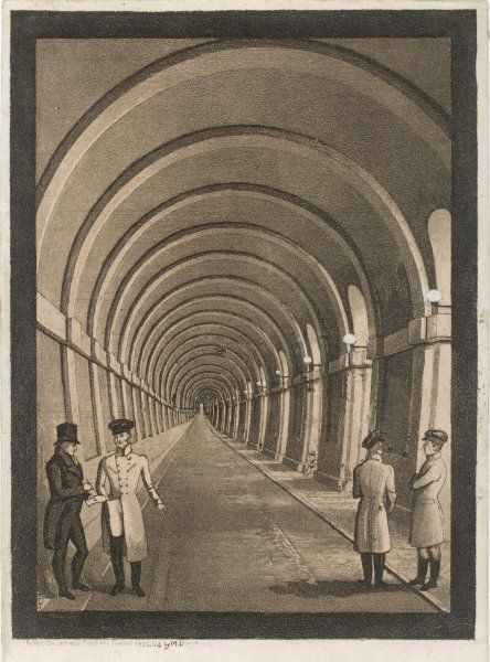 Brunel's Thames Tunnel, at Rotherhithe; Western archway
