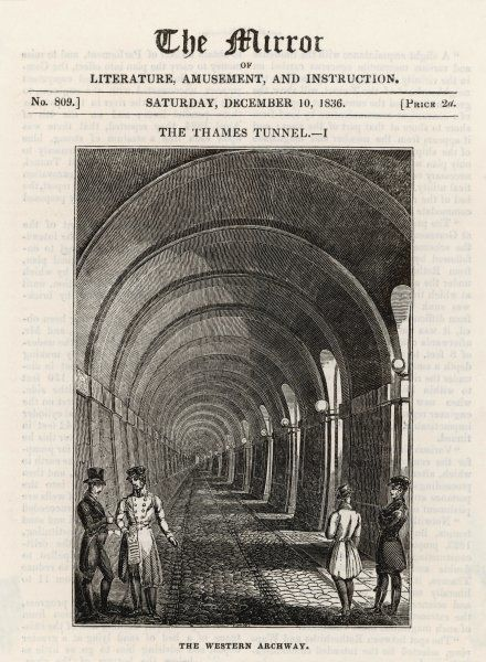 The Thames tunnel at Rotherhithe; Western archway