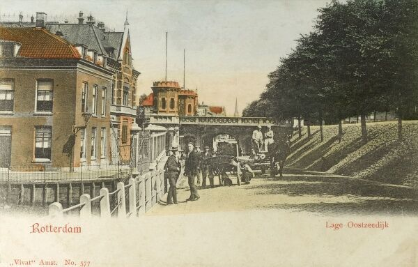 Rotterdam - The Netherlands - Lage Oostzeedijk - Lower East promenade (with dyke wall visible) Date: circa 1905