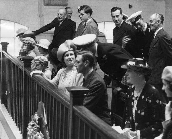 Probably the first occasion upon which Queen Elizabeth II and her future husband, Prince Philip of Greece were photographed together, at Dartmouth Naval College on 22 July 1939