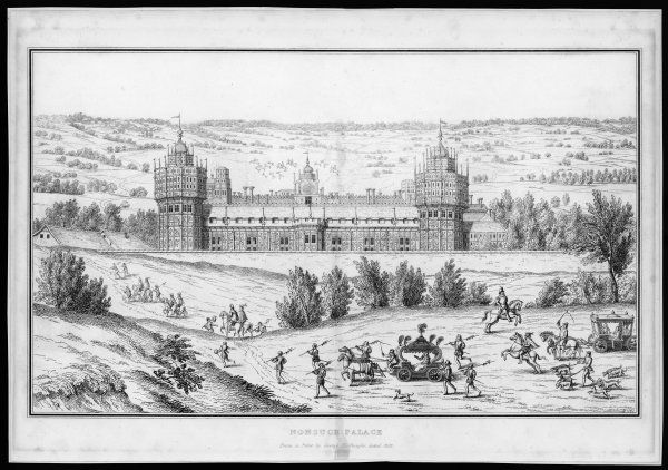 The palace as seen during the reign of Elizabeth I