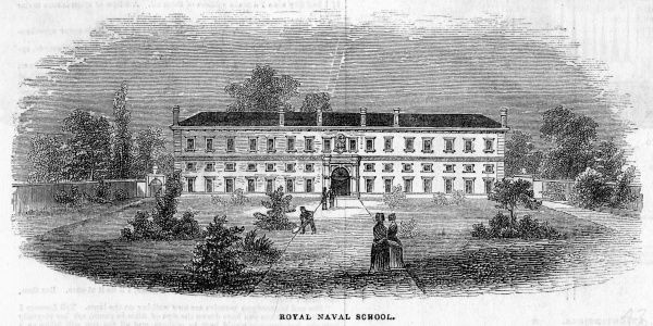 The Naval school at New Cross, before its removal to Greenwich