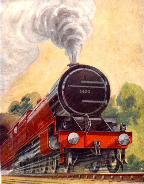 The Royal Scot number 6100, LMS cover artwork, 1928 Date: 1928