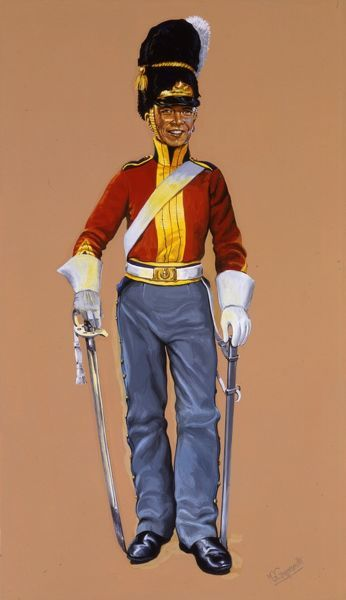 Trumpeter of the Royal Scots Greys. Painting by Malcolm Greensmith