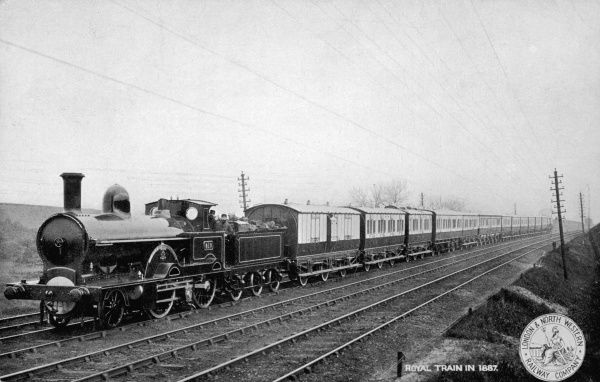 Queen Victoria's Royal Train on the London and North- Western Railway