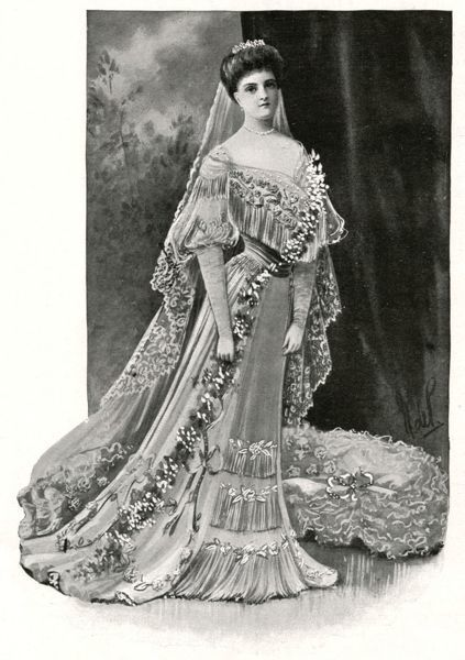 Princess Alice of Albany, later Countess of Athlone (1883-1981), seen here in her wedding dress