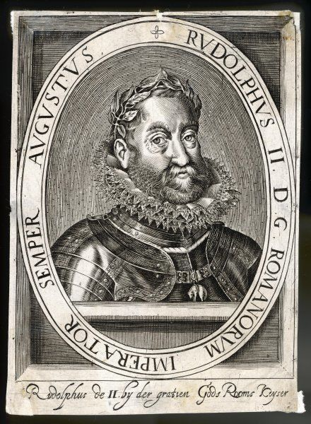 EMPEROR RUDOLF II Holy Roman Emperor (1576- 1612), also crowned King of Hungary (1572) and Bohemia (1575) Date: 1552 - 1612