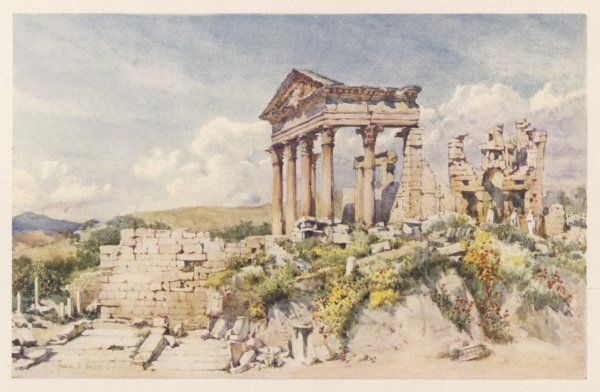The Temple of Celestis at Dougga (or Thugga) is a fairly well-preserved relic of Roman days