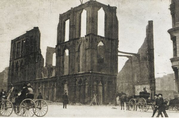 The ruins of the Masonic Temple, San Francisco after the fire of the 18th-20th April 1906