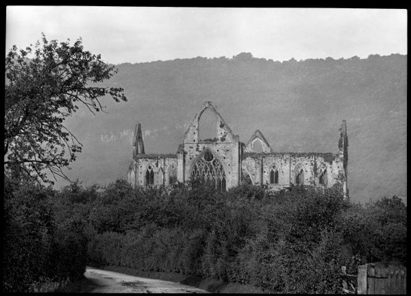 View of the ruins of Tintern Abbey, near Chepstow, Gwent (formerly Monmouthshire), Wales. It was a Cistercian abbey, founded in 1131