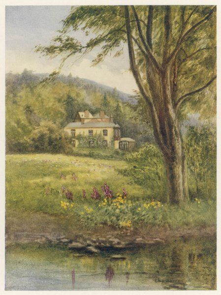 Ruskin's home at Brantwood, in the English Lake District