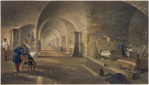 Interior of Fort Nicolas, an important part of the Russian defences of the city Date: 1855