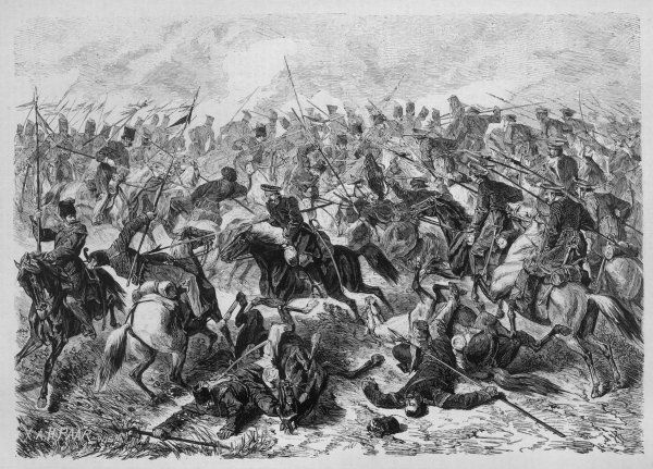 Cavalry engagement between Russian and Turkish lancers at Eski-Saghra