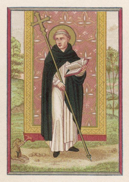 SAINT DOMINIC preacher, founder of the order named after him, a relentless opponent of heresy, especially that of the Albigensians