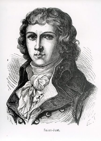 Louis Antoine Leon de Saint-Just, 1767-1794, French revolutionary and military leader Date