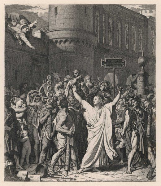 A nobleman of Gaul, Symphorien obstinately refuses to worship Cybele, preferring his Christian god, and consequently he is beheaded by the Roman governor Heraclius
