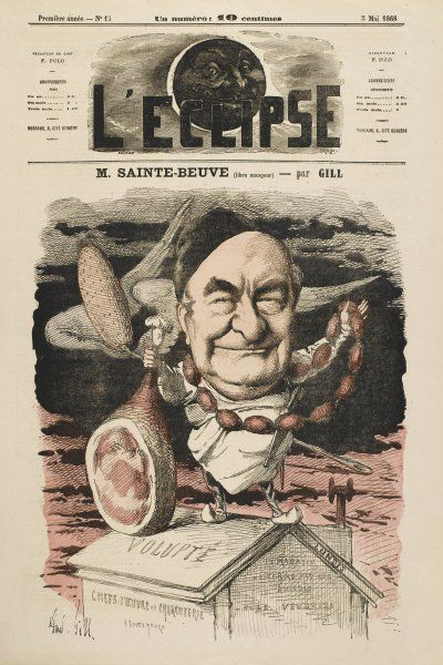 CHARLES AUGUSTIN SAINTE-BEUVE French man of letters: a satirical view