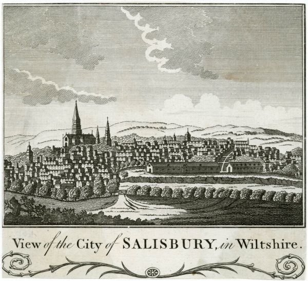 A general view of Salisbury, Wiltshire, viewed approximately from Old Sarum