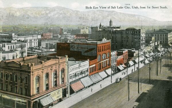 View of Salt Lake City, Utah - as seen from 1st Street South Date: 1909