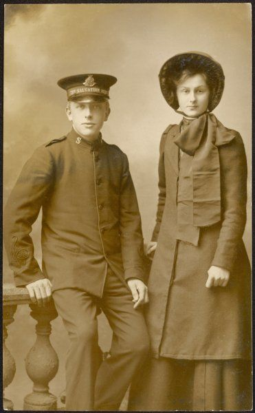 A Salvation Army couple photographed in their uniforms. The photographer works in Barnstaple, so perhaps that's where they are