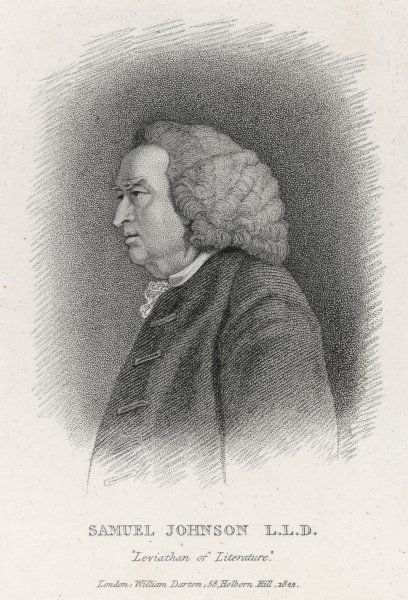 DR SAMUEL JOHNSON English writer, lexicographer, critic and conversationalist