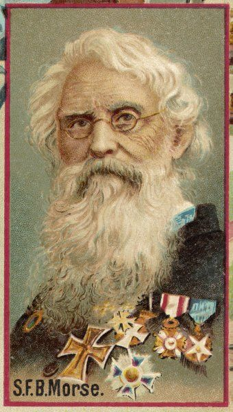 SAMUEL FINLEY BREESE MORSE American artist and inventor Invented Morse code for use in telegraph instrument