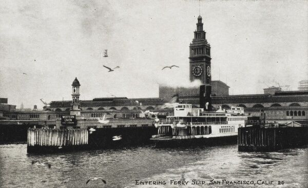 San Francisco, California - Ferryboat entering the Ferry Slip