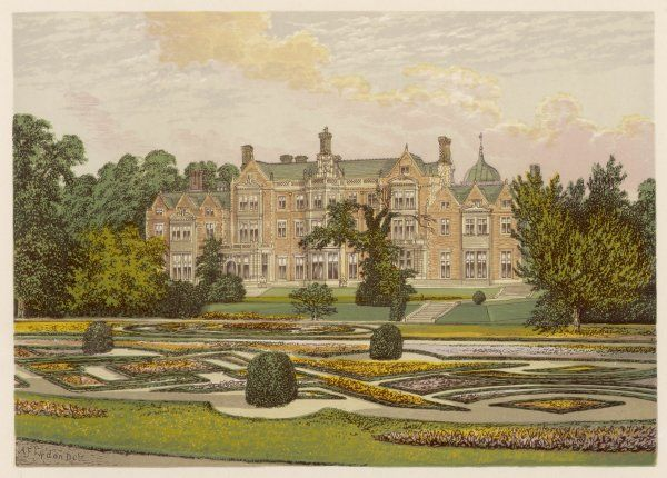 Sandringham House, Edward VII's country home, seen from the gardens
