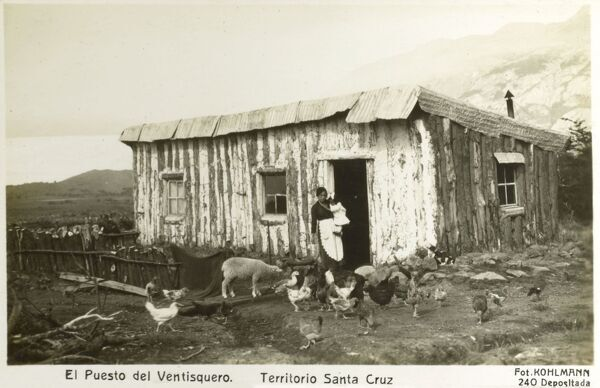 Santa Cruz Province, Argentina - Smallholding at the end of the glacier Date: circa 1920