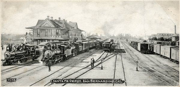 Santa Fe Depot, train station, San Bernardino, California, America