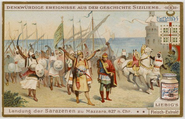 The Saracens land at Mazzara in Sicily : they will rule the island for the ensuing two centuries