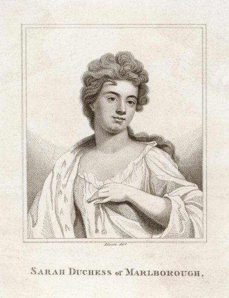 SARAH, duchess of MARLBOROUGH Wife of John, 1st Duke. Friend of Queen Anne