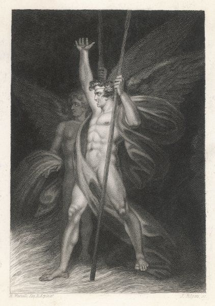 Two eminent devils - SATAN and BEELZEBUB as they are described by Milton in 'Paradise Lost&#39