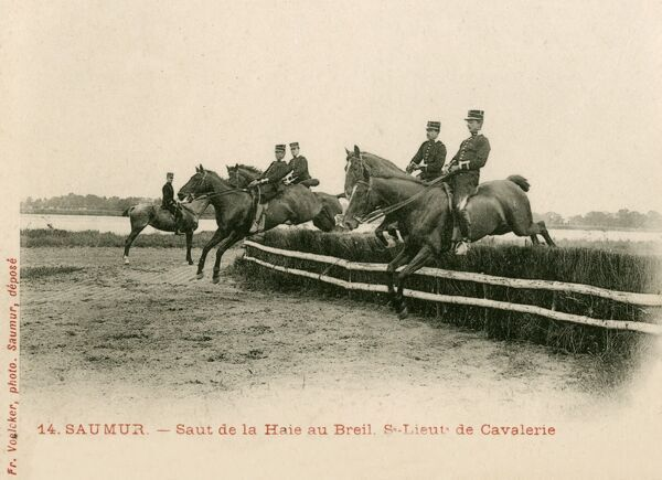 Saumur - Horse training at the Cavalry School. Saumur is home to the Cadre Noir, the Ecole Nationale d'Equitation (National School of Horsemanship), known for its annual horse shows, as well as the Armoured Branch and Cavalry Training School