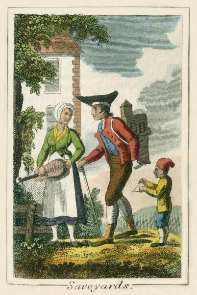'Savoyards' - Swiss from Savoy. A book of national types and costumes from the early 19th century